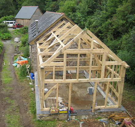 Traditional oak timber frame manufacture devon for Timber frame home plans designs
